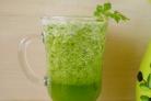 Зеленый коктейль с огурцом