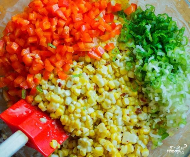 Мексиканский салат с кукурузой - фото шаг 3