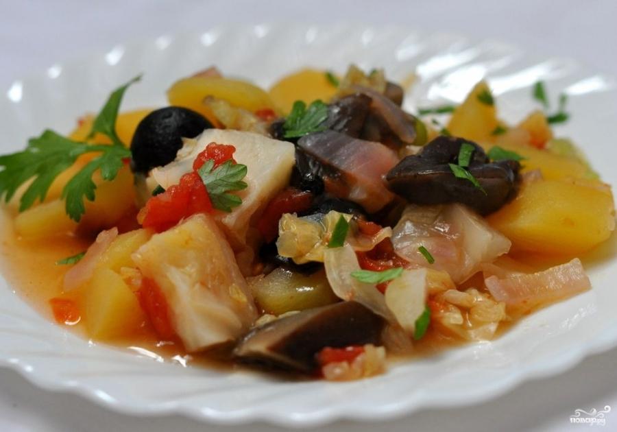 Грибы тушеные с овощами - фото шаг 4
