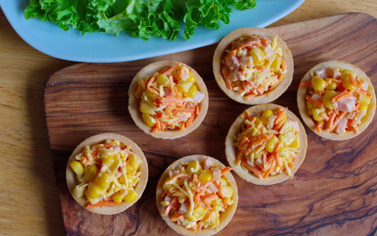 Салат для тарталеток с ветчиной - фото шаг 7