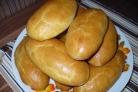 Печеные пирожки на кефире