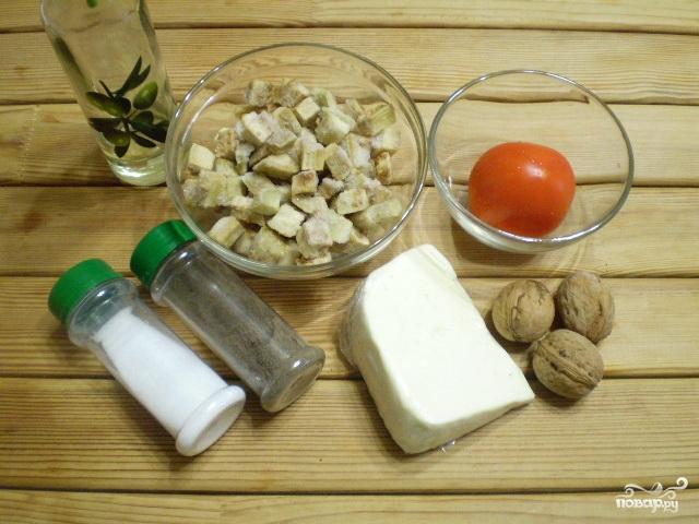 Рецепт Салат из баклажанов с сыром