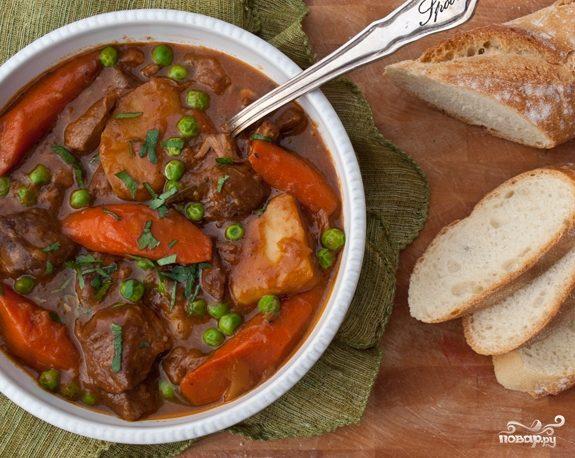 Рецепт жаркого с мясом и овощами