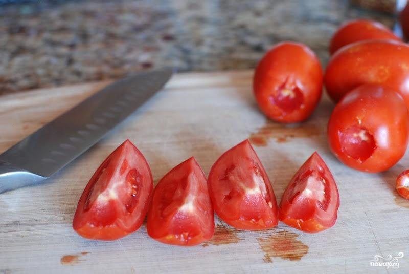 Помидоры, сушеные в духовке - фото шаг 2