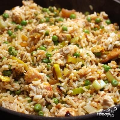 Коричневый рис с индейкой и овощами - фото шаг 6