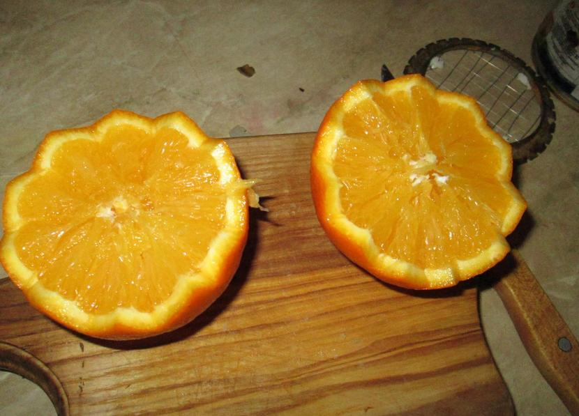 Салат в апельсиновых корзиночках - фото шаг 3