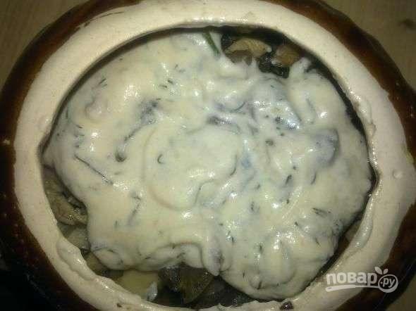 жульен с курицей и грибами и картошкой рецепт с фото в духовке видео