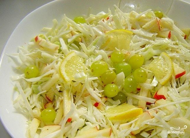 Постный салат с капустой - фото шаг 7