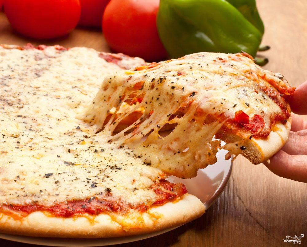 Пицца с сыром моцарелла рецепт с фото