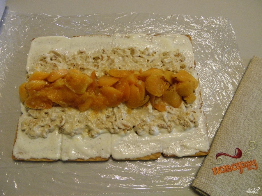 Торт из печенья без выпечки - фото шаг 5