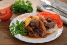 Стифадо из говядины с рисом