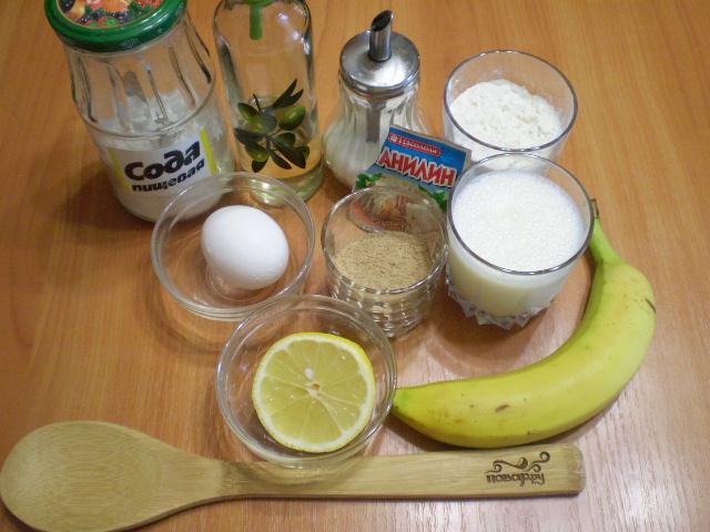 Рецепт Гречневые оладьи с бананом