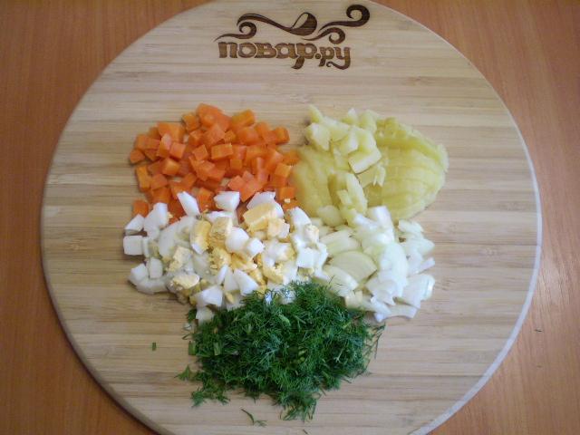Салат с картошкой и грибами - фото шаг 3