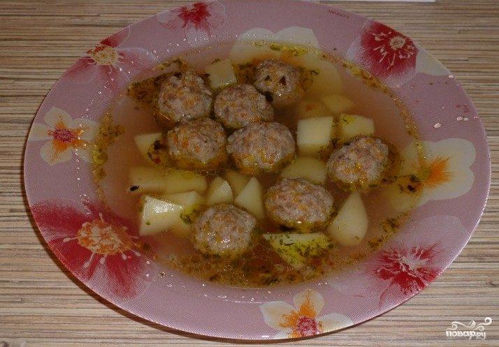 Суп с фрикадельками и картошкой