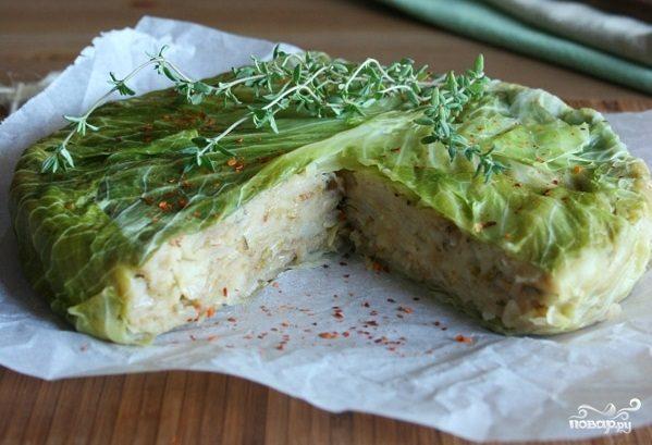 Рецепт Диетический пирог с капустой