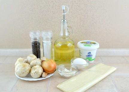 Рецепт Волованы с грибами