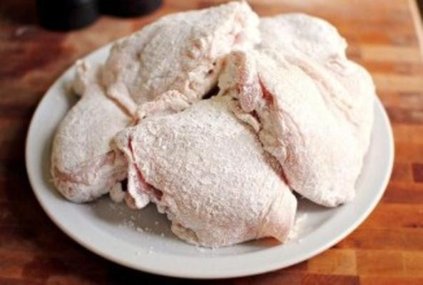 курица кусочками с чесноком в духовке рецепт
