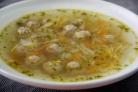 Капустный суп с фрикадельками