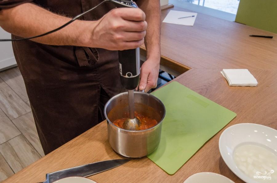 Cуп из томатного сока с сыром - фото шаг 4