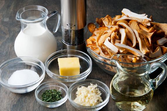 Рецепт Пирог с лисичками и беконом
