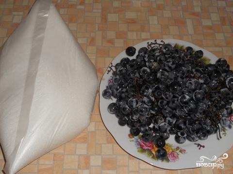 Компот из винограда на зиму - фото шаг 1