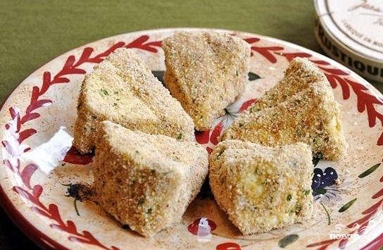 Сыр, жареный в панировке - фото шаг 6