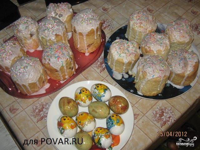 Рецепт Пасхальный творожный кулич
