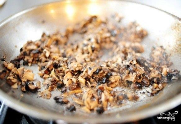 Конвертики с грибами - фото шаг 4
