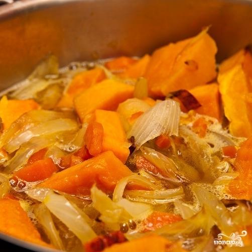 Тыквенный суп с креветками - фото шаг 3
