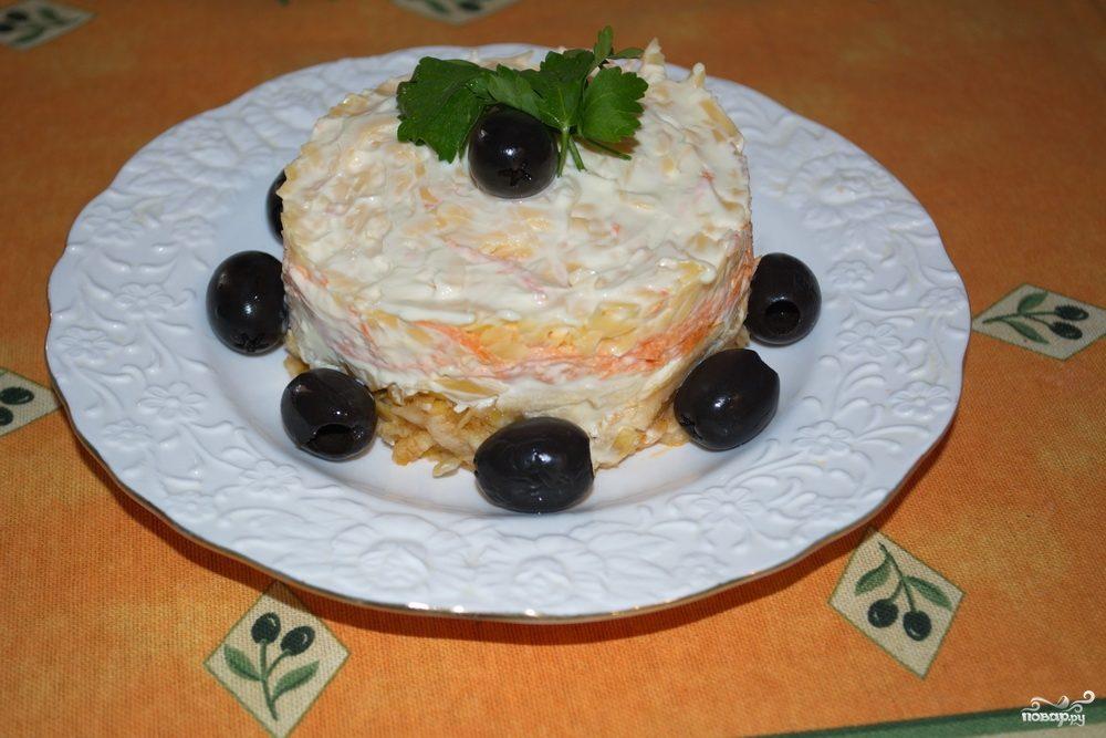 Салат слоеный с сыром