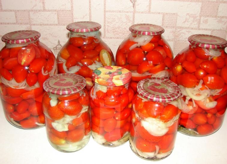 Закатка красных помидоров - фото шаг 3