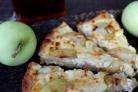Овсяный пирог с творогом и яблоками