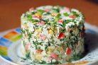 Крабовый салат без риса с огурцом