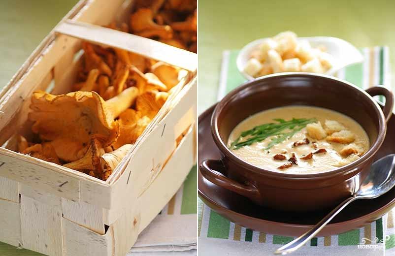 Рецепт Суп из лисичек со сливками