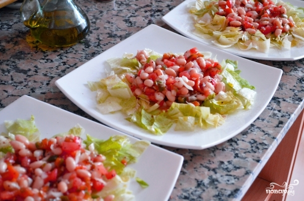 Салаты с рыбой и морепродуктами - фото шаг 9