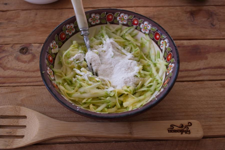 Суфле из кабачков с грибным соусом - фото шаг 2