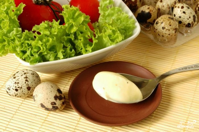 Майонез из перепелиных яиц пошаговый рецепт