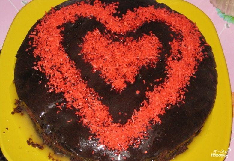 Вишневый пирог на скорую руку