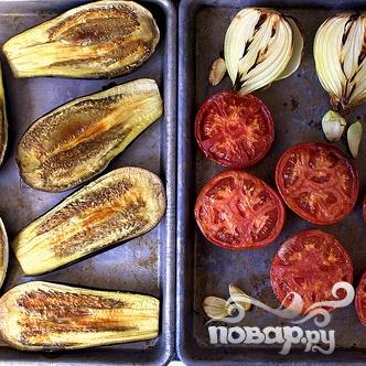 Суп с запеченными баклажанами и помидорами - фото шаг 2