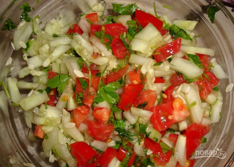 Лаваш с курицей и овощами - фото шаг 2