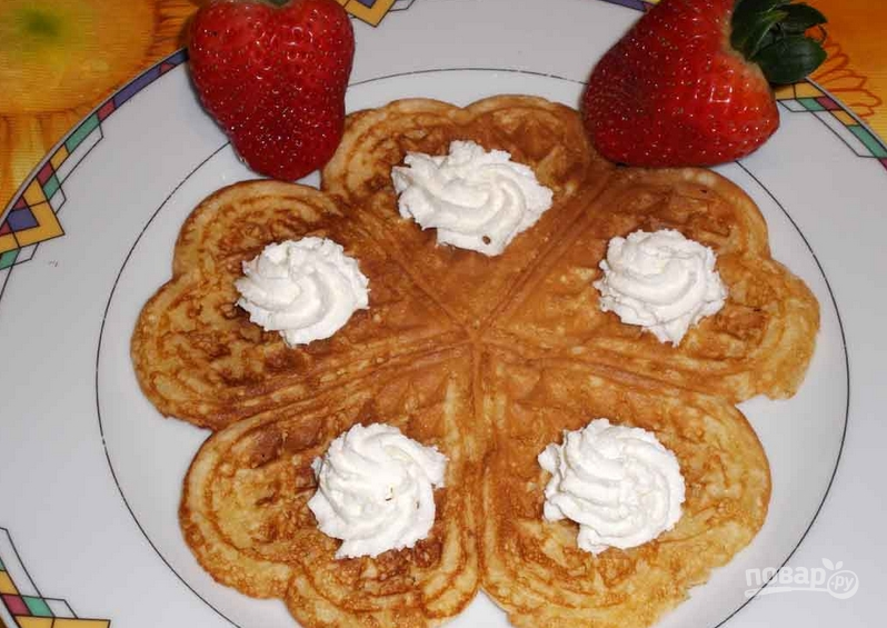 Печенье в вафельнице - пошаговый рецепт с фото на Повар.ру