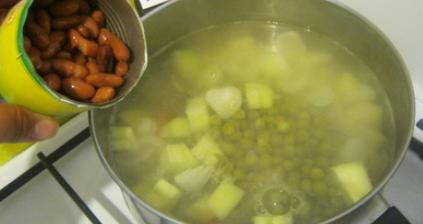 Фасолевый крем-суп - фото шаг 3