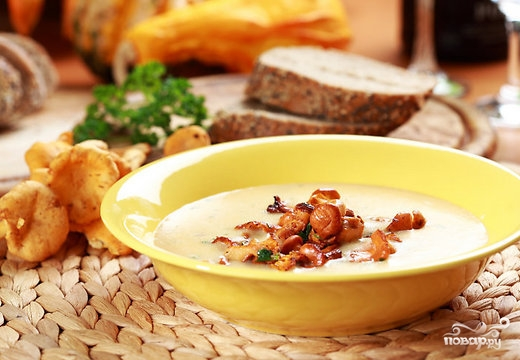 суп из лисичек замороженных рецепт приготовления