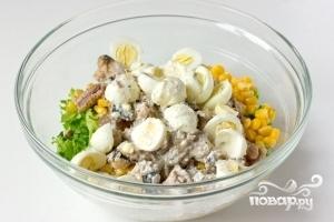 Салат из сардины в масле - фото шаг 8
