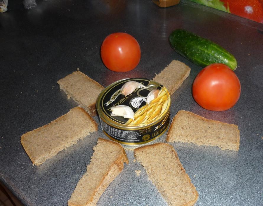 Рецепт Жареные бутерброды со шпротами