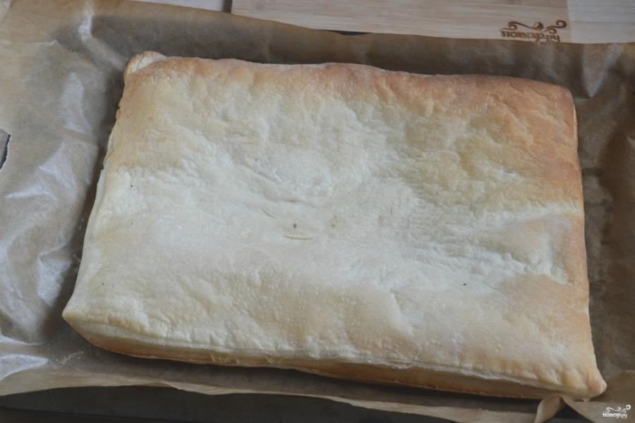Торт из слоеного теста - фото шаг 3