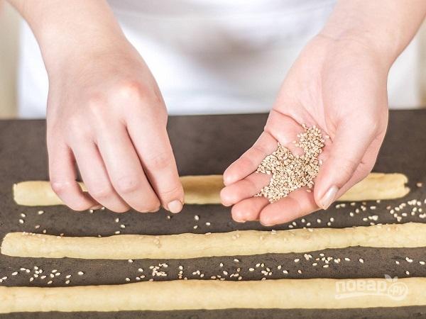 Хлебные палочки без дрожжей - фото шаг 3