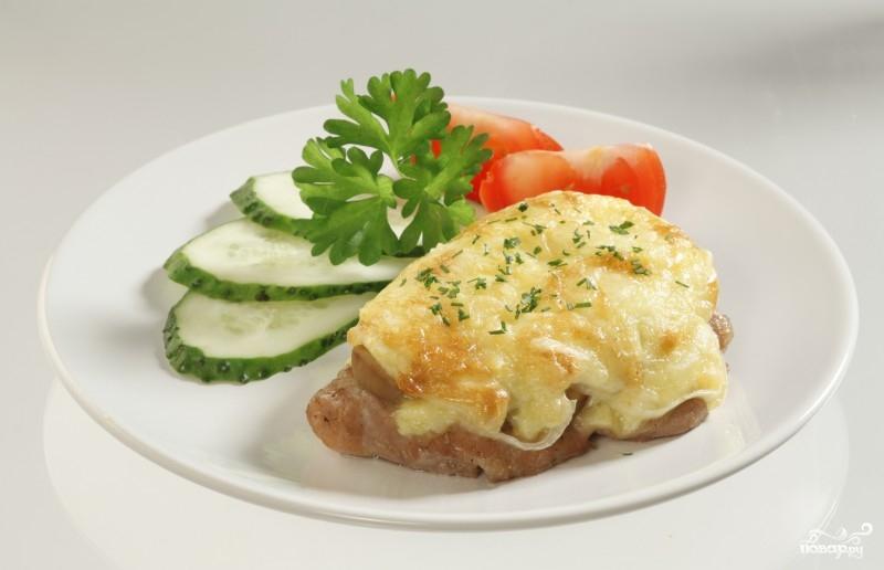 Мясо с сыром в мультиварке