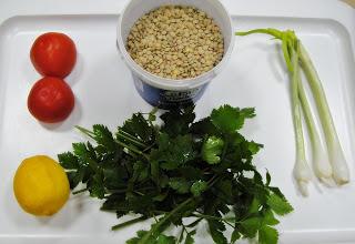 Рецепт Салат с чечевицей и помидорами
