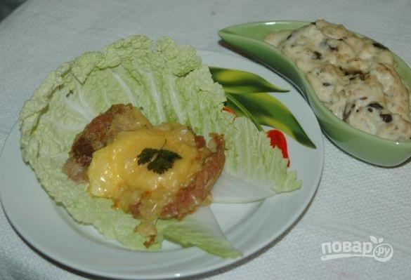 Запеченная свинина со сливочно-грибным соусом - фото шаг 5